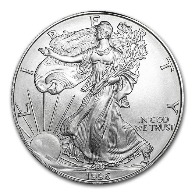 1996 $1 Silver Eagle PCGS